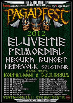 Paganfest Tour Europe 2012